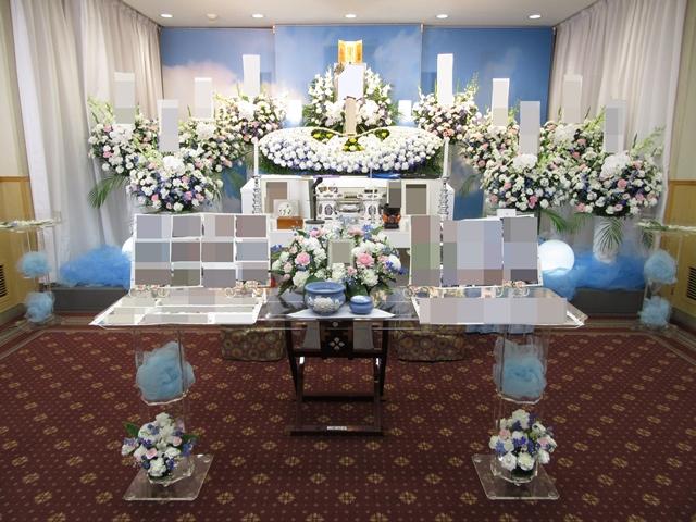 多磨葬祭場 行華殿 【花の家族葬】 施行例